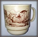 Cumpara ieftin Cana ceramica vintage, peisaj rural  - Klimkraft - Coloroll - Anglia