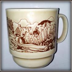 Cana ceramica vintage, peisaj rural - Klimkraft - Coloroll - Anglia