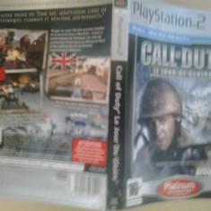 Coperta - Call of duty - Le tour de Glorie - PLATINUM - PS2 ( GameLand )