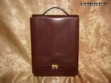 Geanta business din piele italiana, Millenium, Maro