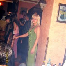 Rochie verde de seara marimea 40 EU 38 UK12 - Rochie de seara, Maxi, Fara maneca, Poliester