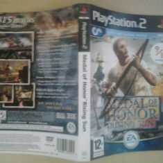 Coperta - Medal of honor - Rising sun - Playstation PS2 ( GameLand )