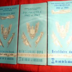 Aviatie- 3 Programe Reintalniri Centrul Militar de Pilotaj Zilistea -Buzau 1942 - Cartonas de colectie