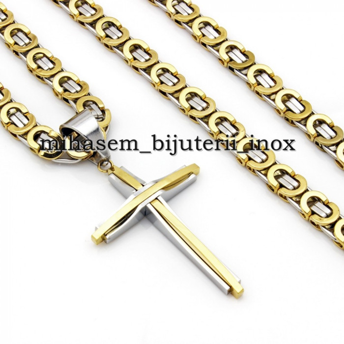 Lant + medalion INOX placat=70 ron