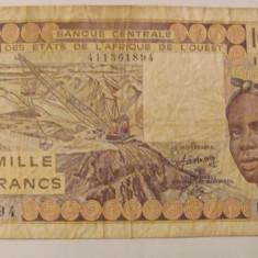 CY - 1000 francs (franci) 1987 Africa de Est - bancnota africa