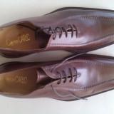 Pantofi din PIELE Italia Nr. 43 - Pantofi barbat, Marime: 28.5, Culoare: Maro, Piele naturala