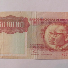 CY - 500000 kwanzas 1991 Angola - bancnota africa