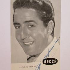 FOTO CU AUTOGRAF VICO TORRIANI ANII 70