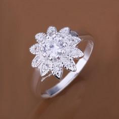 Inel argint 925, forma florala; marimi 7 si 8