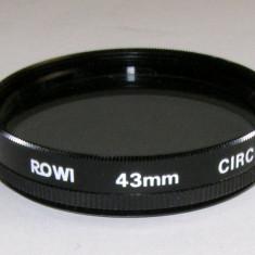 Filtru polarizare circulara Rowi 43mm - Filtru foto
