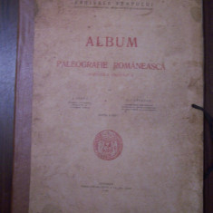 Album de paleografie romaneasca. Scrierea chirilica - I.Bianu, N.Cartojan (1929) - Carte veche