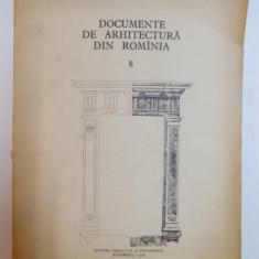 DOCUMENTE DE ARHITECTURA DIN ROMANIA, NUMARUL 8, BUC. 1962 - Carte Arhitectura