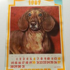 Calendar de perete, 1987, vintage, model vechi, pentru colectionari