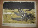 LITOGRAFIE MARCEL CHIRNOAGA- COLECTIV   //PROLECULTISTA, Abstract, Cerneala