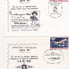 Bnk fil Avia 89 Caracal - plicuri ocazionale + placheta