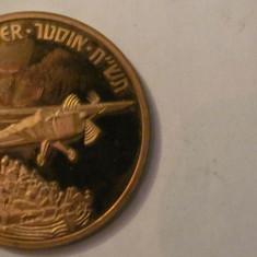 "MMM - Medalie Israel ""Compania britanica de constructii aeronave AUSTER"" IUDAICA"