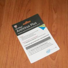 Pachet Antivirus - INTEL McAfee Antivirus Plus 2015, licenta1 an, 1 utilizator