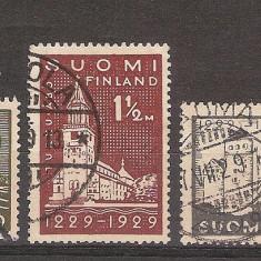 Finlanda, 1929, monumente, nava, seria stampilata