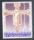 SAN MARINO 1967 - PICTURA  1 VALOARE, NEOBLITERATA - SM 044