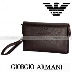 GIORGIO ARMANI - Borseta barbati din piele