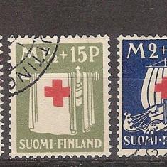 Finlanda, 1930, Crucea Rosie, seria stampilata, Medical
