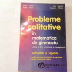 PROBLEME CALITATIVE IN MATEMATICA DE GIMNAZIU DORIN ANDRICA, RF, RF10/2, RF12/4 - Culegere Matematica