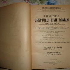 D.Alexandresco-Principiile dreptului civil roman/ vol.4- an 1926 - Carte Drept civil