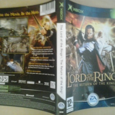 Coperta - The Lord of the rings The return of the king XBOX ( GameLand )