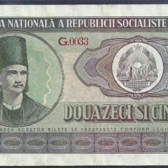 ROMANIA 25 LEI 1966, VF++ [3] P-95a - Bancnota romaneasca