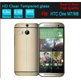 Folie protectie din sticla securizata pt HTC One M8 M8s 0.3mm tempered glass