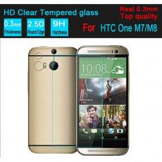 Folie protectie din sticla securizata pt HTC One M8 M8s 0.3mm tempered glass - Folie de protectie