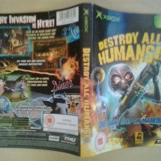 Coperta - Destroy All Humans - XBOX ( GameLand )