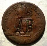 G.022 AUSTRIA 1 EIN KREUZER 1816 A CONTRAMARCA AE, Europa, Cupru (arama)