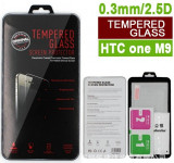 Folie protectie din sticla securizata pt HTC One M9 9H 0.3mm 2.5D tempered glass