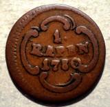 C.048 ELVETIA CANTON SCHWYZ 1 RAPPEN 1780, Europa, Cupru (arama)
