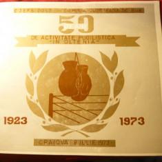 50 Ani Activitate Pugilistica in Oltenia 1923-1973 - CJEFS Dolj -BOX - Jubiliare