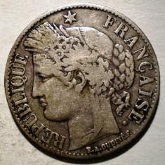 C.107 FRANTA CERES 1 FRANC 1887 A ARGINT 4, 9g, Europa
