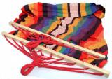 Hamac mexican pentru o persoana cu intinzatoare din lemn - Nou, Hamace clasice, 1 persoana