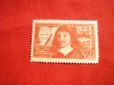 Timbru Descartes - Discours de la Metode 1937 Franta , 1 val. sarniera
