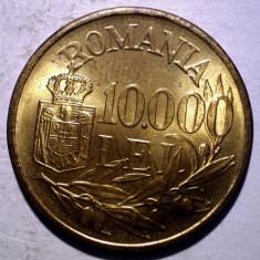 R.301 ROMANIA MIHAI I 10000 LEI 1947 XF/AUNC punct proeminent 10.000 - Moneda Romania, Alama