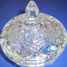 Cristal BOHEMIA  Bomboniera cu capac diam 15 cm - cod 59001.99007.150