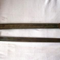 Baioneta - sabie ofiteri? an 1875 teaca din piele, autentifica, 65 cm, colectie