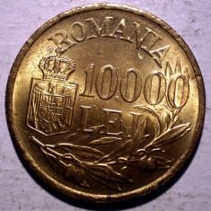 R.315 ROMANIA MIHAI I 10000 LEI 1947 XF/AUNC punct sters 10.000 - Moneda Romania, Alama