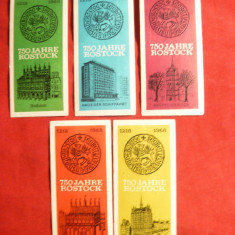 Set5 Vignete - 750 ani Rostock Germania 1968, culori diferite