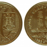 50 BANI 2010 AUREL VLAICU COMEMORATIVA UNC NEATINSA DIN FISIC - Moneda Romania, Alama