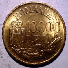 R.309 ROMANIA MIHAI I 10000 LEI 1947 XF/AUNC punct sters 10.000 - Moneda Romania, Alama