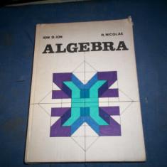 ALGEBRA de ION D. ION SI R. NICOLAE 1981 - Carte Matematica