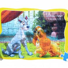 Joc puzzle Doamna si Vagabondul cu 60 piese