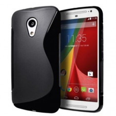 Husa Motorola Moto G2 TPU S-LINE Black - Husa Telefon Motorola, Negru, Gel TPU, Fara snur, Carcasa