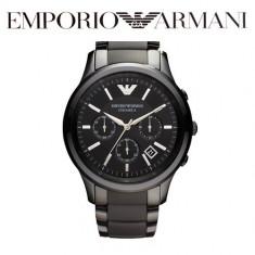 Ceas Emporio Armani Ceramic Cronograf AR 1451 - Ceas barbatesc Armani, Lux - sport, Quartz, Inox, Ceramica